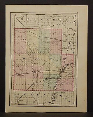Wisconsin Wood or Portage County 1876 Single Special Price L15#05