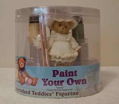 "Cherished Teddies  ""LACEY""   PAINT YOUR OWN  -CHERISH THE LITTLE THINGS IN LIFE"