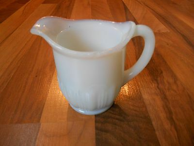 Old Vintage or Antique Opaque Milk Blue Tint White Creamer or Pitcher Kitchen