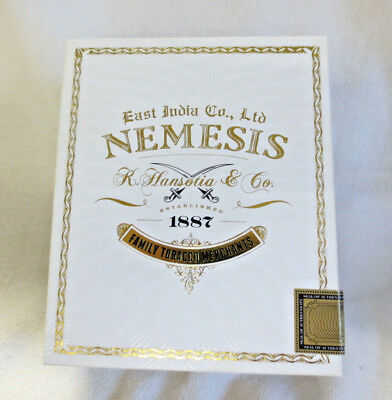 Gurkha East India Co. Corona Nemesis White Wood Cigar Box  -  Nice
