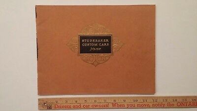 1927 STUDEBAKER - Prestige B&W Custom Cars - Sales Catalog - Good Condition (US)