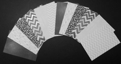 "*BLACK-GREY-WHITE* Scrapbooking/Cardmaking Papers  x 20 *15cm x 10cm ( 6"" x 4"")"