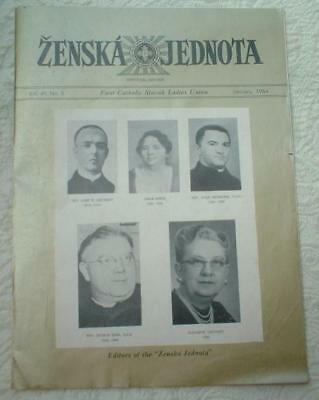 1964 Zenska Jednota First Catholic Slovak Ladies Union Magazine ~ Cleveland Ohio