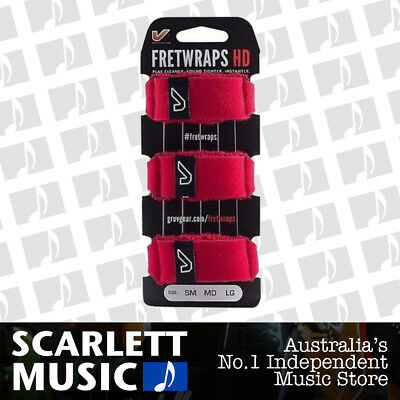 Gruv Gear Fretwrap 3 Pack Red Small Fret-Wrap *BRAND NEW*