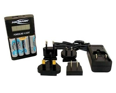 Quick Charger w/ 4 AA Rechargeable Batteries for Leica DISTO, Lino & Sprinter