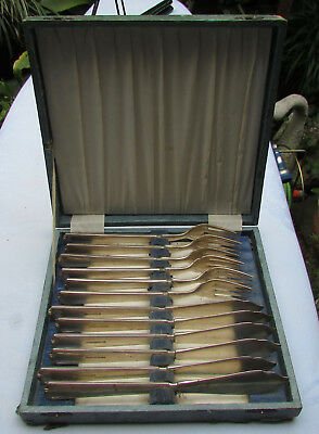 Stunning Vintage Beverley Epns Silver Plated Fish Set Boxed