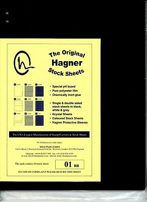 Hagner 1 Pocket Single Sided Stamp Stock Sheets Pack of 10