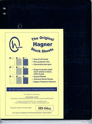 Hagner 4 Pocket Single Sided Stamp Stock Sheets Pack of 10
