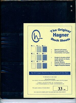 Hagner 3 Pocket Double Sided Stamp Stock Sheets Pack of 10