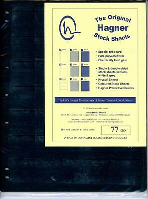 Hagner 7 Pocket Double Sided Stamp Stock Sheets Pack of 10