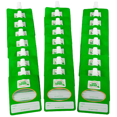 Disposable Baby Food Pouches (24ct) - Make Own 6 Oz - Works w/ all Fill Stations