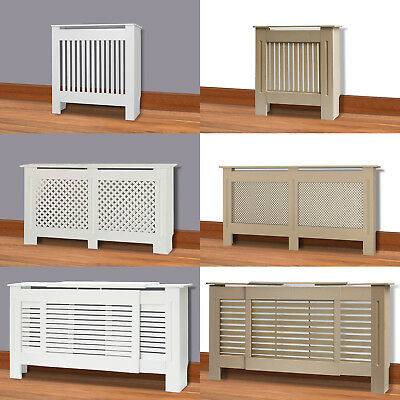 Modern Traditional Radiator Cover White Unfinished Wood Grill Cabinet Furniture