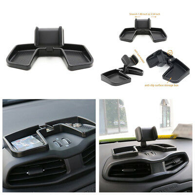 Car Dashboard 360° Rotate ABS Black Storage Box GPS Holder Auto Mobile Stand Kit