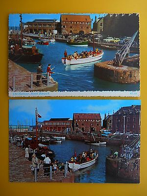 2 x Harbour NORTH BERWICK East Lothian 1965/1976 Standard Size Boats Old Cars