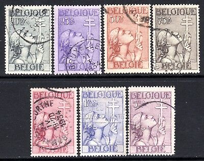 (171)     Belgium 1933 Anti Tuberculosis Fund Set  SG646-52 VF Used Cat £250
