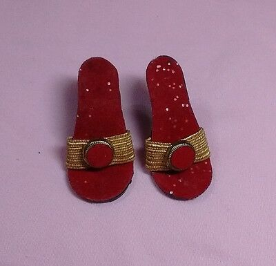 "Vtg 1950's Madame Alexander Cissy  doll  red  high  heel Shoes for ( 20"".//./"