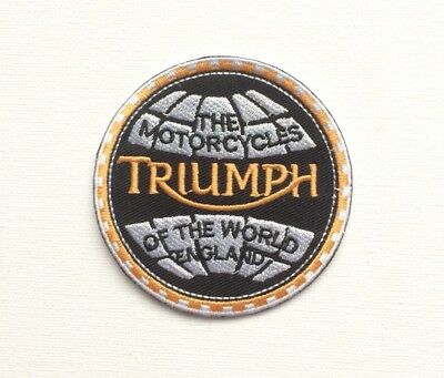 Triumph iron on/ Sew on Patch Biker Motorcycle