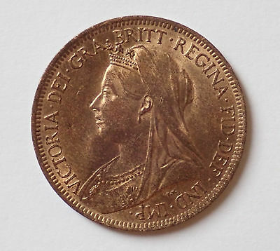 Victoria, halfpenny, 1901, GEF with lustre