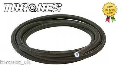 "AN -8 (-8 AN JIC-8) 7/16"" NYLON Braided PTFE / Teflon Fuel Hose 1m"