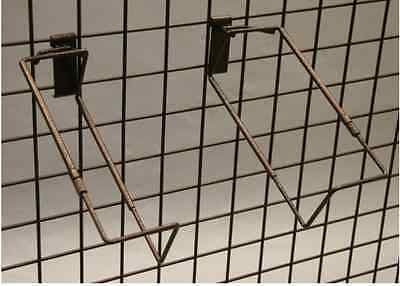 "Gridwall Adjustable Basket Holder Extends 9.5"" - 15""  (Ant. Bronze)"