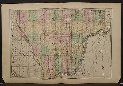 Wisconsin Grant or LaFayette/Green County 1876 Dbl Pg/Side Special Price L15#19