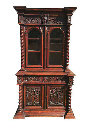 Antique French Gothic Religious Cabinet, Oak, late 19th Century