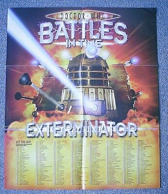Dr Doctor Who Battles in Time Exterminator Poster 50 by 59cm approximately