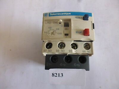 LRD04 telemecanique relais thermiques thermal overload relay 0.4-0.63A