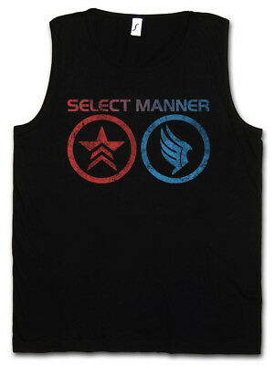 SELECT MANNER TANK TOP Jack Commander Mass Good Effect Evil Normandy Sheppard
