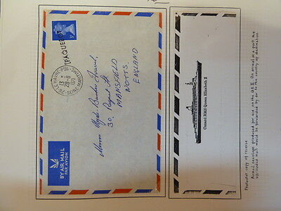 Great Britain 1971 QE2 Paquebot A/M Cover, ship insignia on back (45baz)