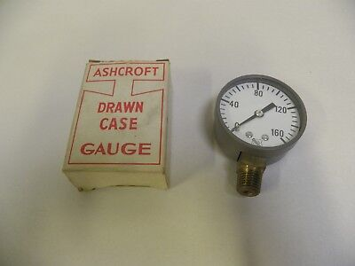 UNUSED Ashcroft Pressure Gauge 0-160 PSI With Box (A3)