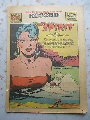 The Spirit - By Will Eisner - August 23, 1942 Comic Book Sized Supplement