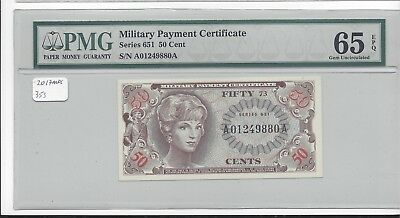 MPC Series 651  50 cents PMG  65EPQ  GEM UNC