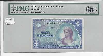 MPC Series 661  1 Dollar    PMG 65EPQ   GEM  UNC