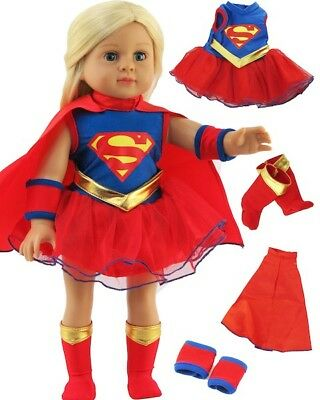 Super Girl Costume includs Boots for 18 inch Doll Clothes American Girl Lovvbugg
