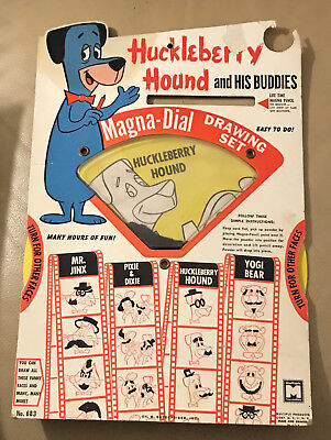Multiple Toymakers  Huckleberry Hound  Magna-Dial  1960's  Hanna Barbera