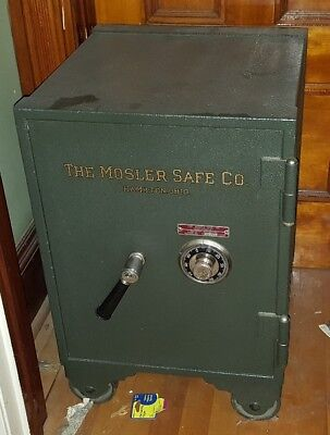 Vintage Mosler Floor Safe Fire Insulated Rated One Hour