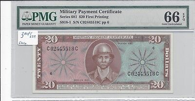 MPC Series 681  20  Dollars PMG 66EPQ  GEM UNC