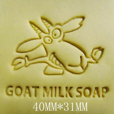 Goat Milk Handmade Resin Soap Stamp Seal Soap Mold Mould 40x31mm