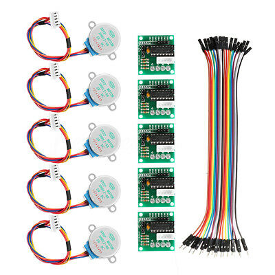 5Pcs 5V Stepper Motor stepmotor + ULN2003 Driver Board Dupont Cable For Arduino