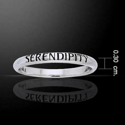 SERENDIPITY Sterling Silver Ring - Empowering Words Collection - Size Select