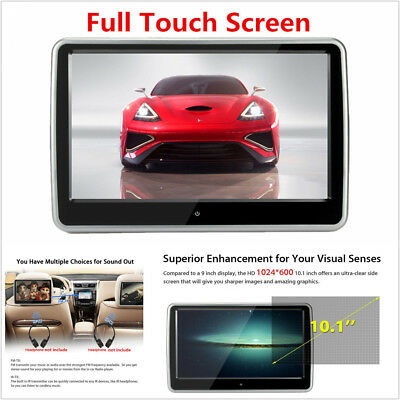 "10.1"" TFT LCD HD Touch Screen HDMI/USB/SD/IR/FM Car Headrest Monitor DVD Player"