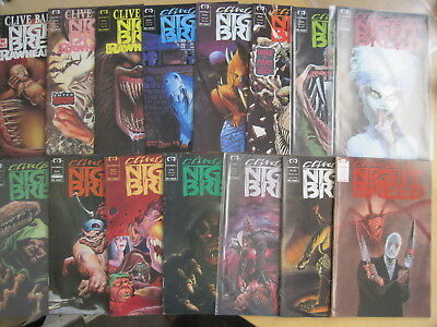 CLIVE BARKER'S Night Breed #s 1,2,3,4,5,6,7,8,9,10,11,12,13,15. GORY!. 1990 Epic