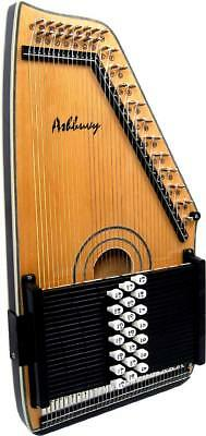 Ashbury Electro Acoustic AUTOHARP. Solid spruce top. Pick-up with tone & volume