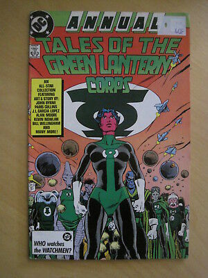 TALES of GREEN  LANTERN CORPS  ANNUAL 3 with ALAN MOORE, JOHN BYRNE etc. DC.1987