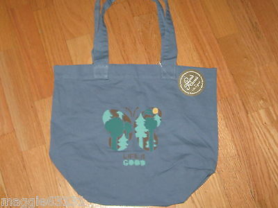 NWT Womens LIFE IS GOOD Karma Organic Butterfly Tote Bag Books Beach School Blue