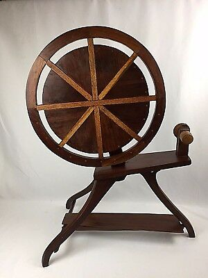 Modernism Arts & Crafts Hand-Crafted Inlaid Side Table Faux / Spinning Wheel