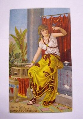 TRADE CARD   (Copy of Work done on the DOMESTIC SEWING MACHINE 1880s