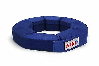 STR SFI Approved Neck Support Brace Collar, Oval Race Kart Mini F2 - Medium Blue