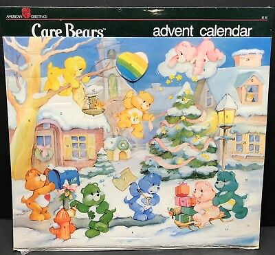 Care Bears Advent Calendar Vintage Christmas American Greetings 80s NEW